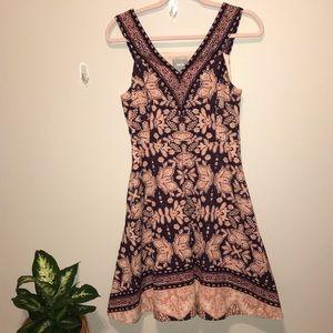 Anthropologie Maeve patterned on corduroy dress